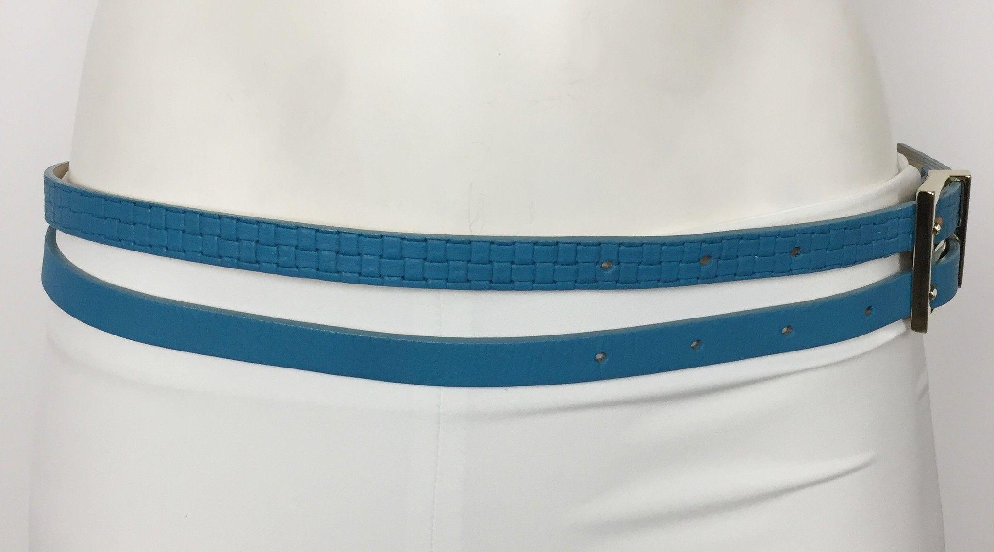 Katia G. Double Belt with Gold Trim Cod.15418