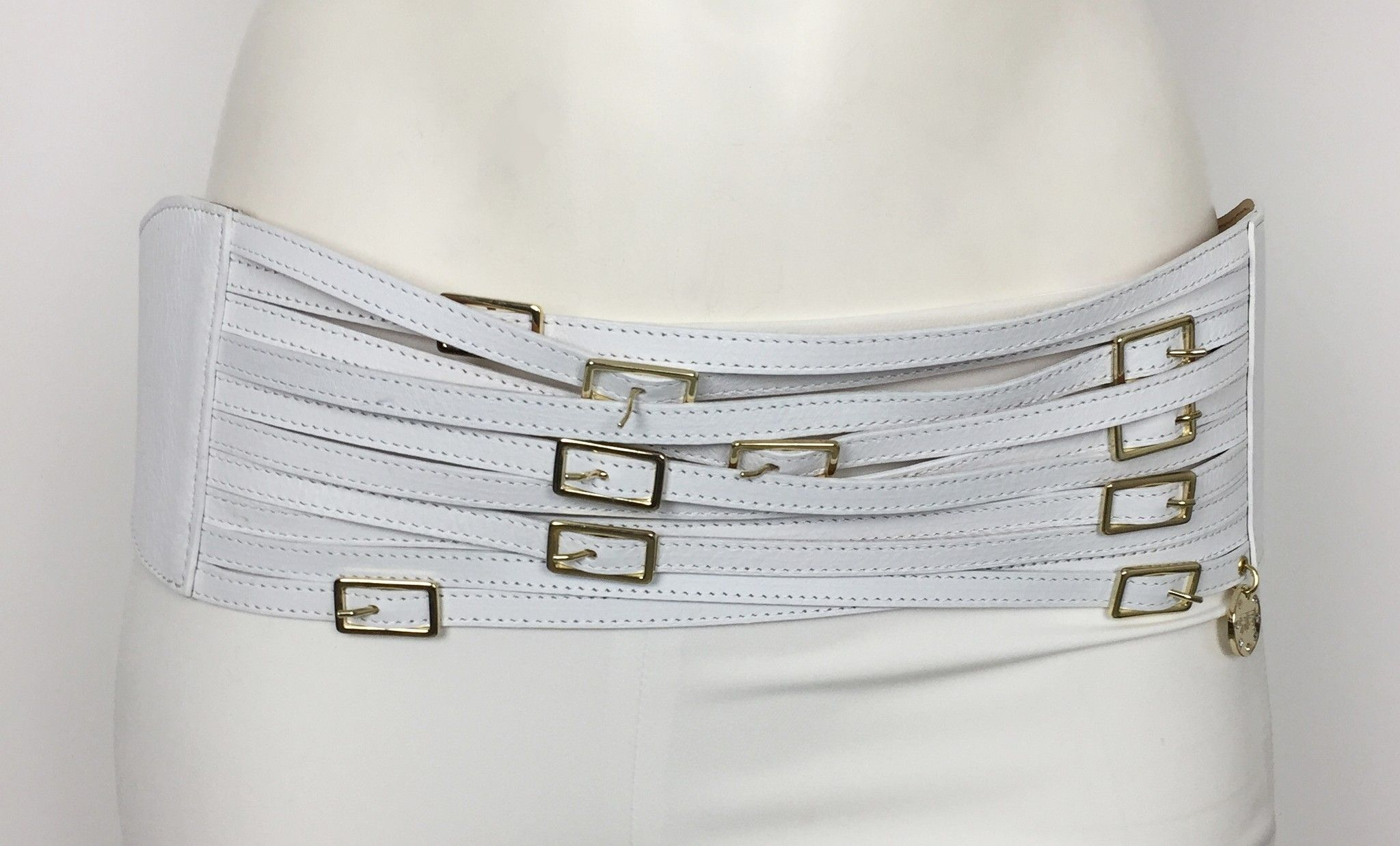 Cintura Roberta Biagi Alta Multi Fibbia con Finiture Dorate Cod.02148