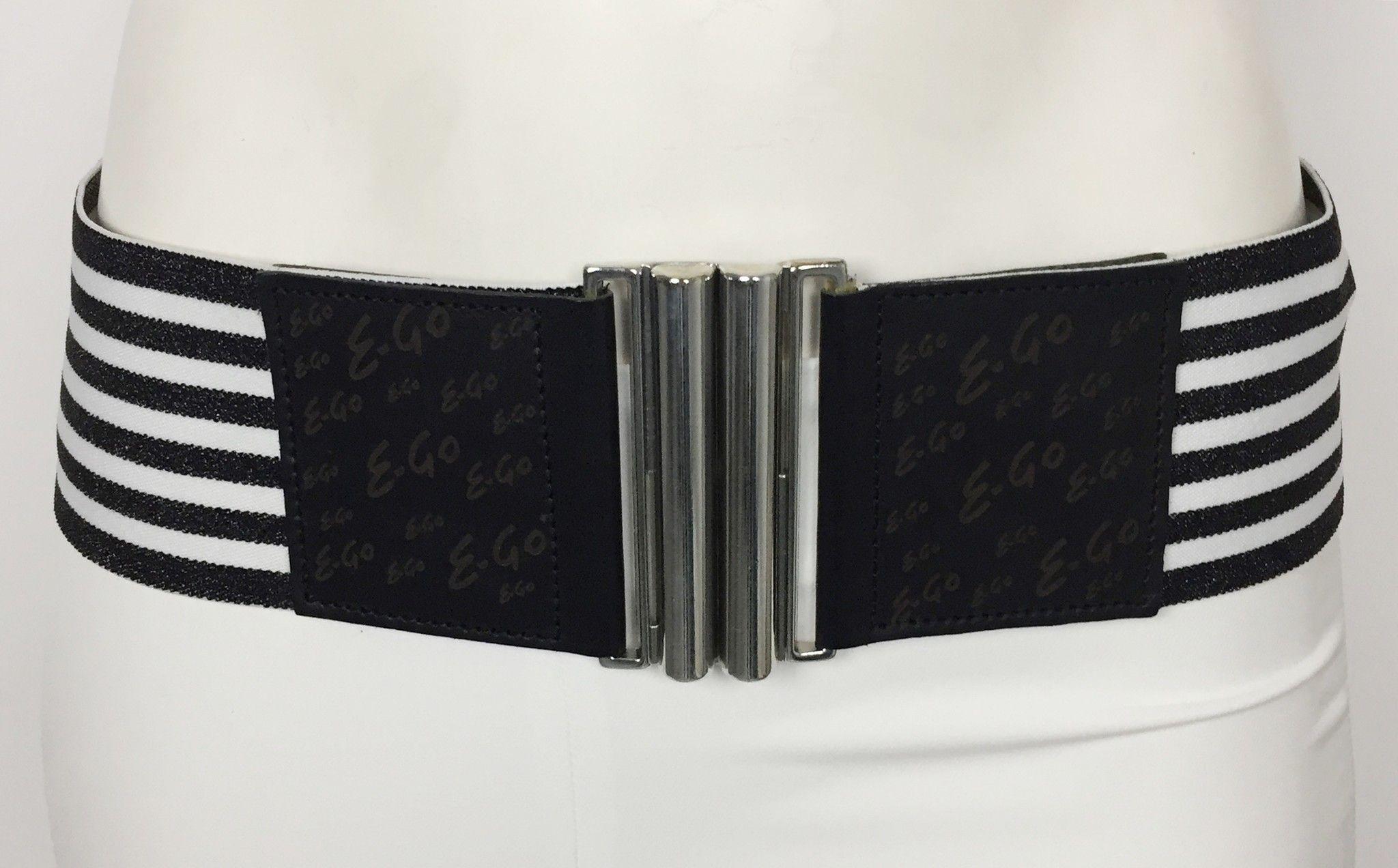 Cintura E-GO Alta Elasticizzata a Righe Bicolore Cod.9462490
