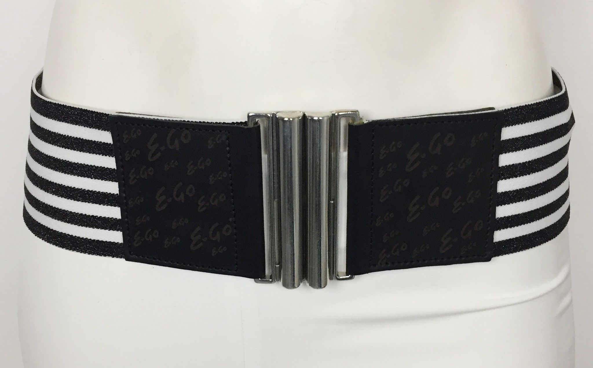 E-GO Two-tone Striped Elastic Belt Cod.9462490