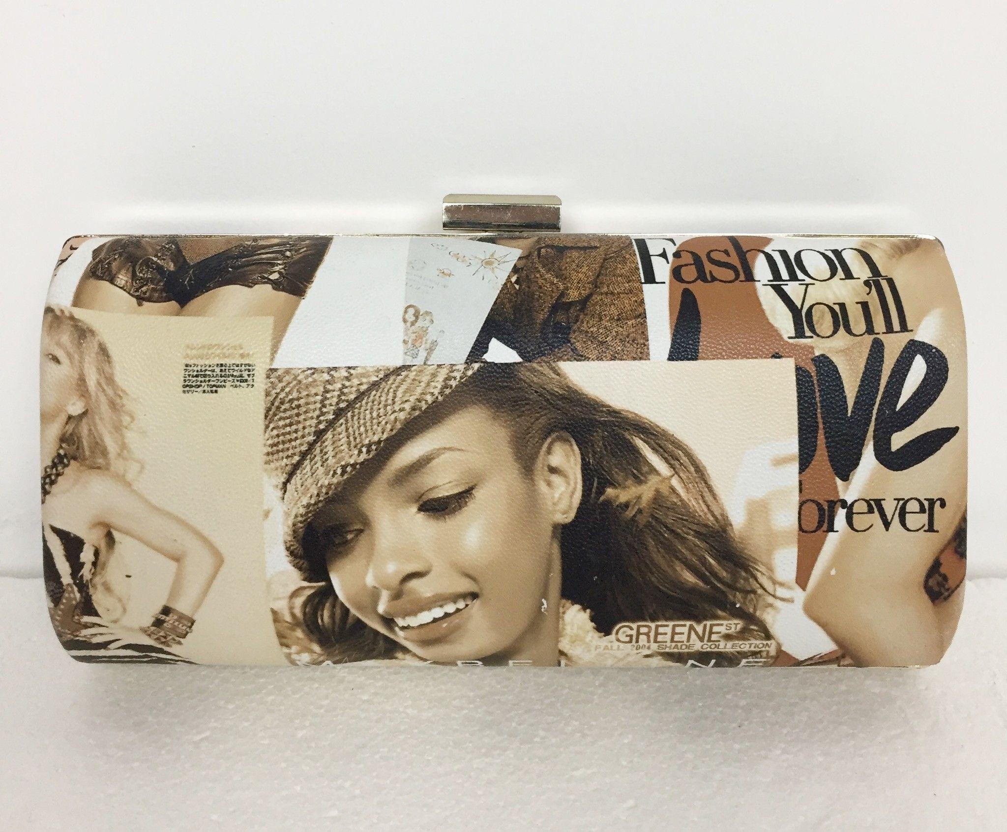 Pochette LadyBug Rigida Stampa Rivista Fashion Cod.5645