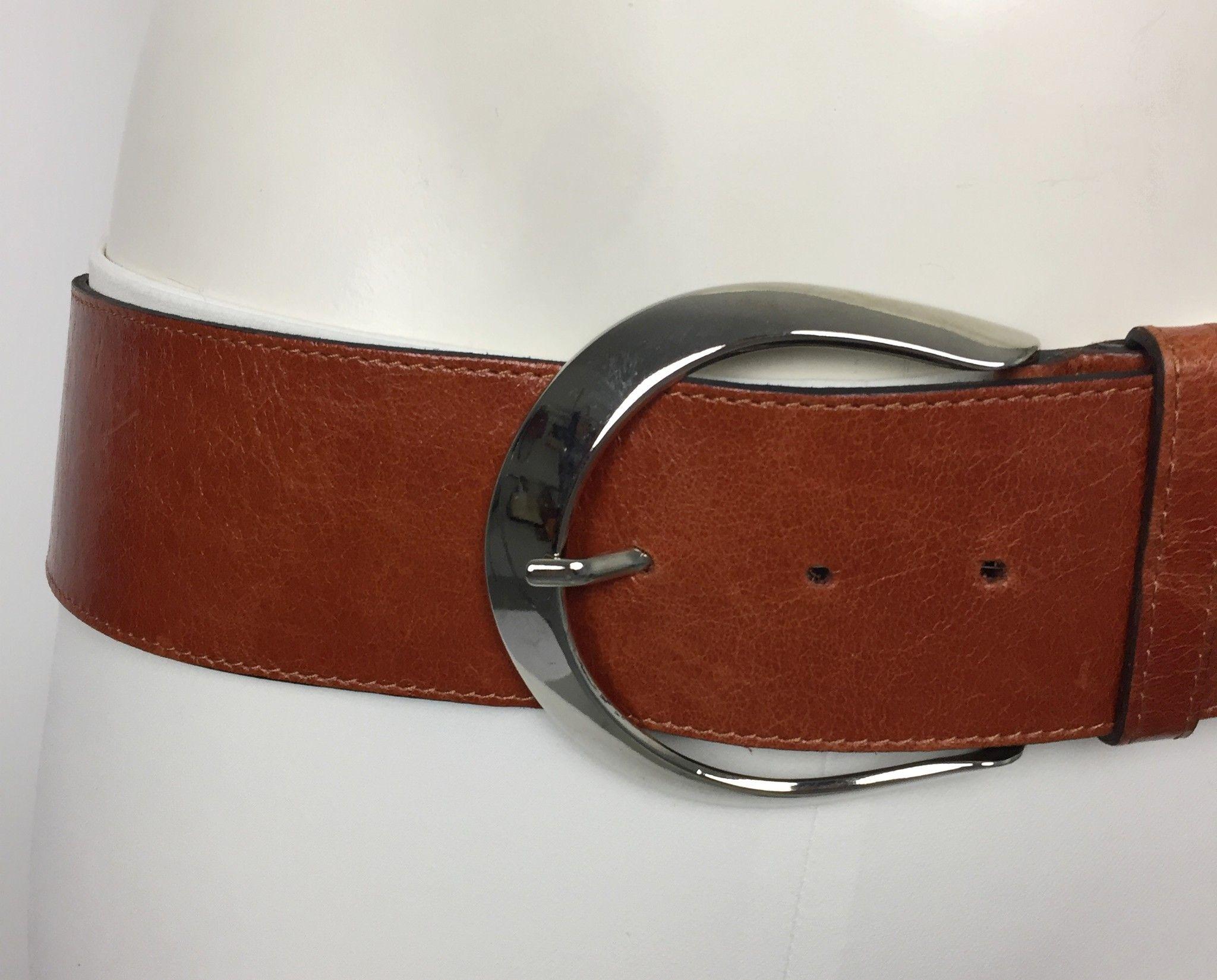 Cintura LadyBug in Vera Pelle con Fibbia Tonda in Acciaio Cod.25784
