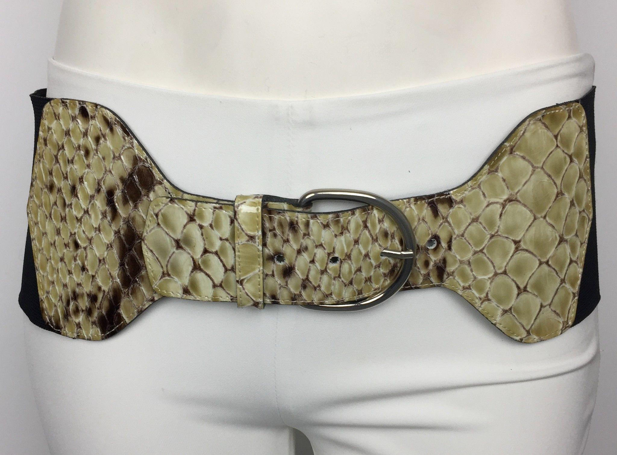 Cintura LadyBug Elasticizzata con Inserti in Vera Pelle Stampa Cocco Cod.9456