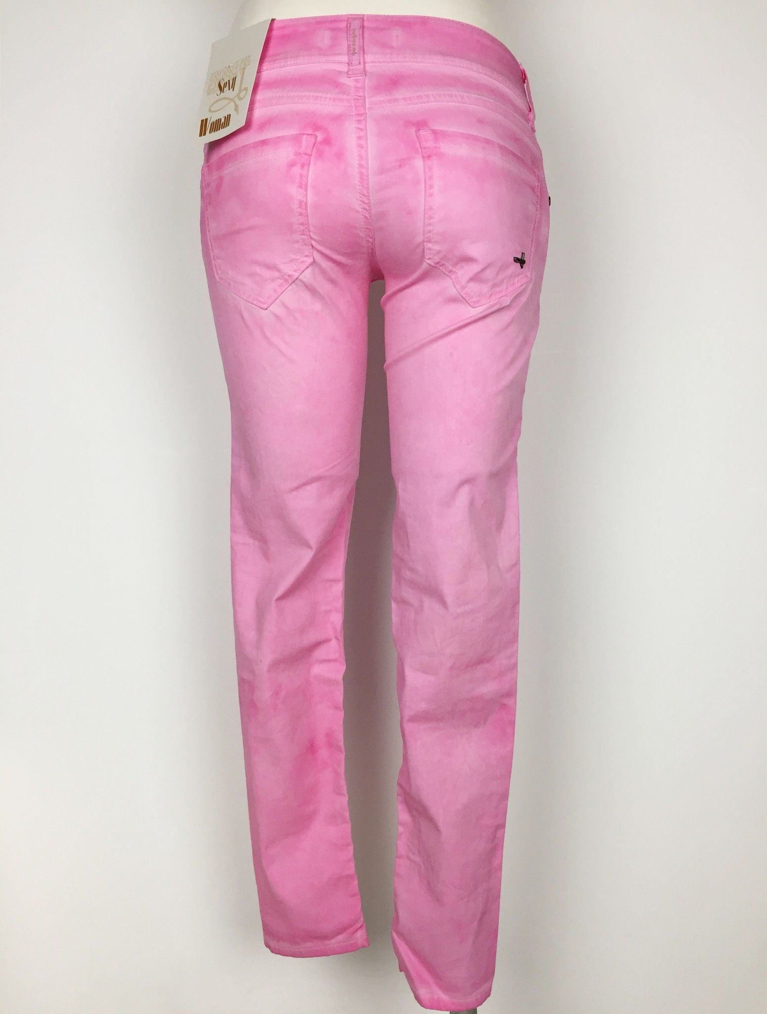 Sexy Woman Lightweight Cotton Jeans with Printed Flowers Cod.P414623
