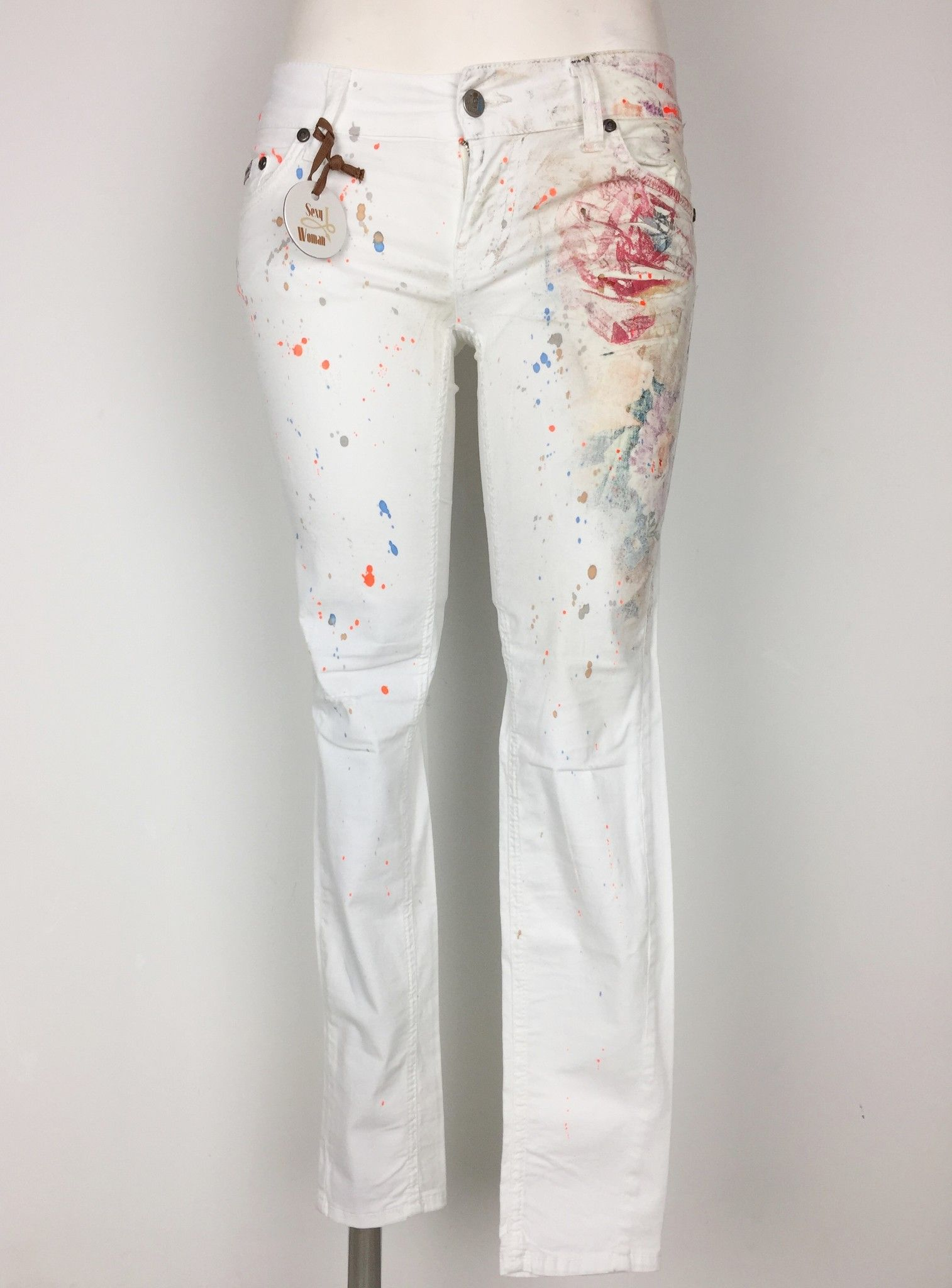 Jeans Sexy Woman Spruzzato in Cotone Leggero Cod.P314738