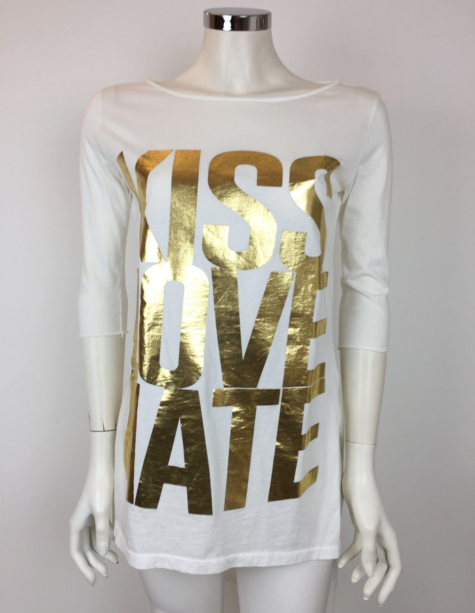 "T-Shirt LadyBug ""Kiss,Love,Hate"" Lunga Dietro Cod.RP0853"