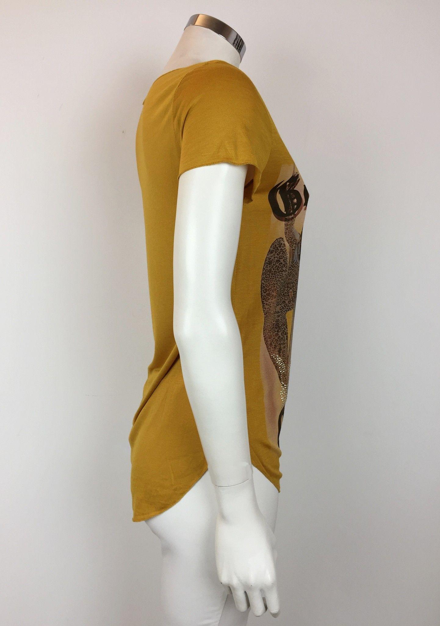 LadyBug V-Neck T-Shirt with Swarovski Crown Cod.RG0055