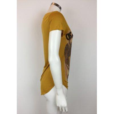 T-Shirt LadyBug Scollo a V con Corona in Swarovski Cod.RG0055