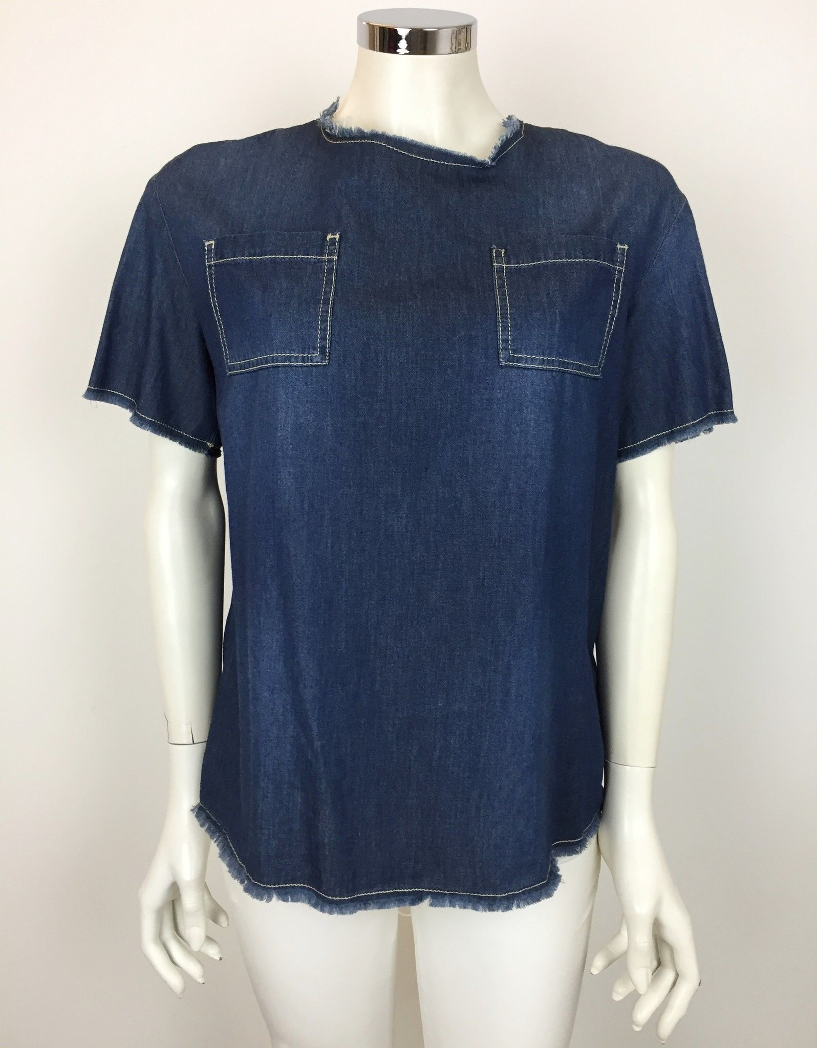 Camicia Space Mezza Manica in Jeans Cod.100CO