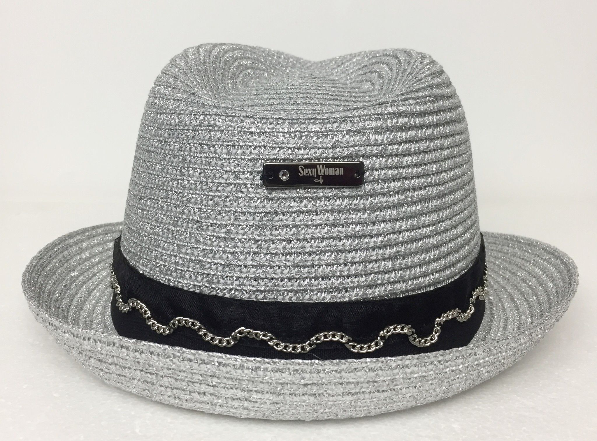 Sexy Woman Lurex Hat with Black Band Cod.01003A15
