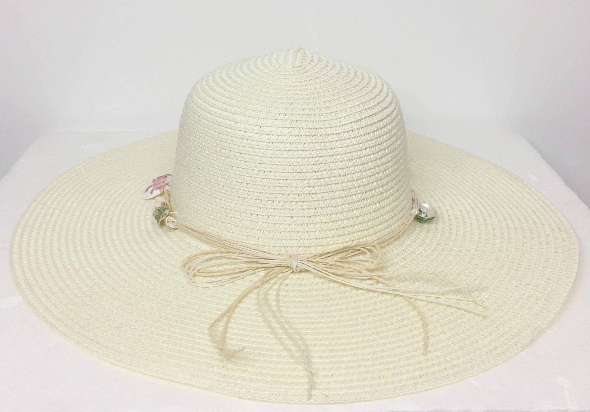Cappello LadyBug in Paglia con Conchiglie Cod.024812