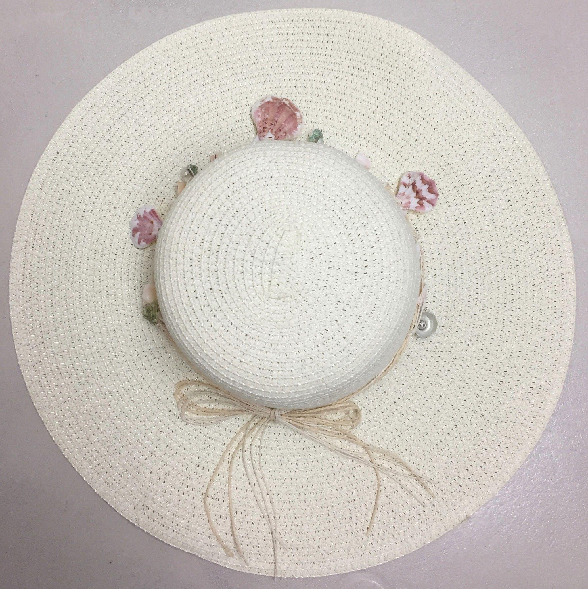 LadyBug Straw Hat with Shells Cod.024812