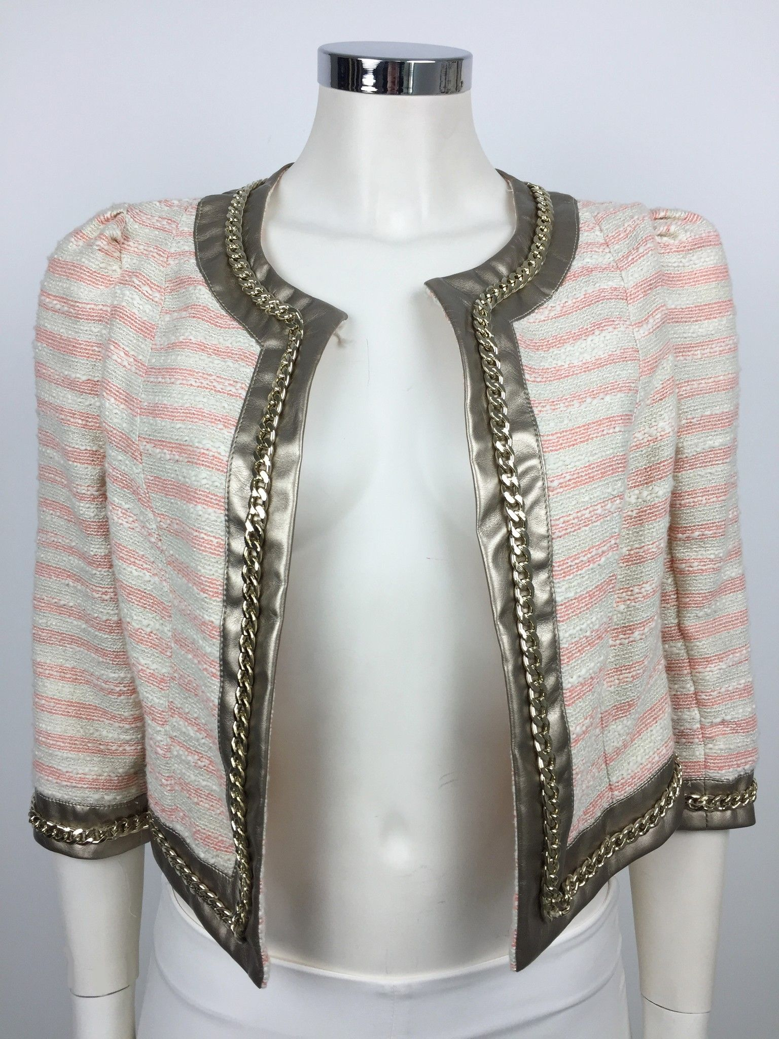 Roberta Biagi Jacket with Golden Profiles and Chain Cod.9745E