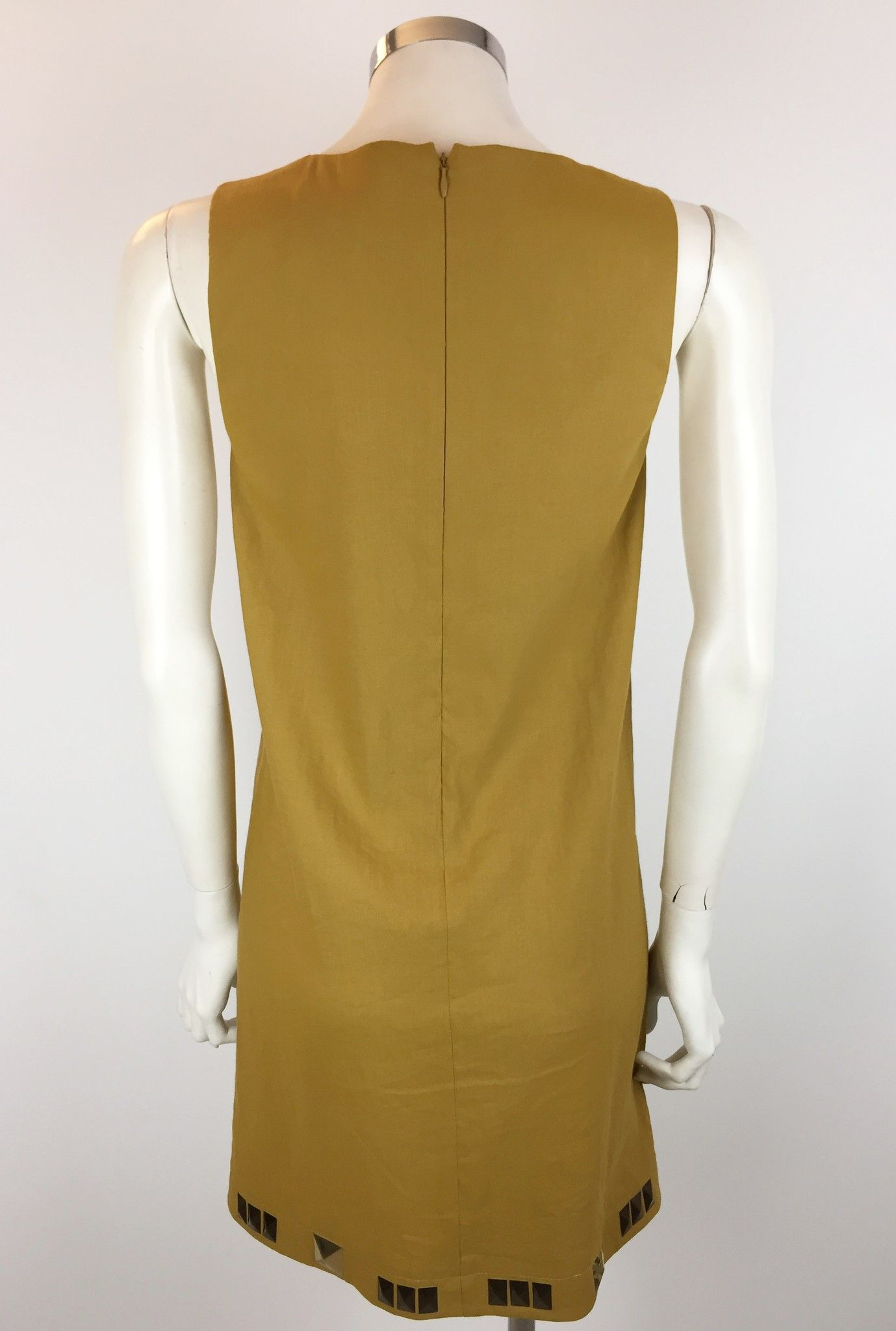 Space V-Neck Dress with Golden Studs Cod.VI3EA