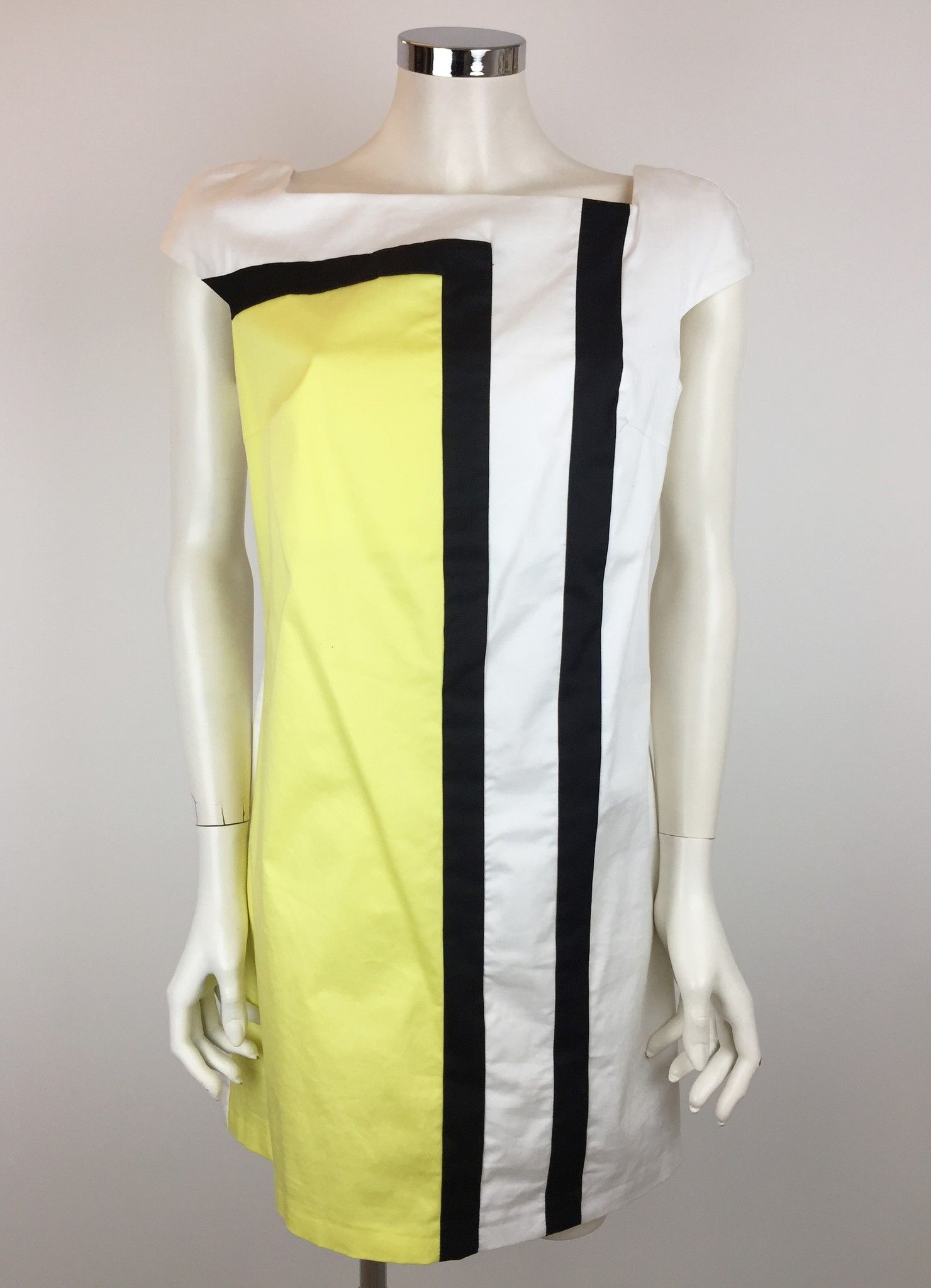 LadyBug Striped Dress with Yellow Insert Cod.2000P