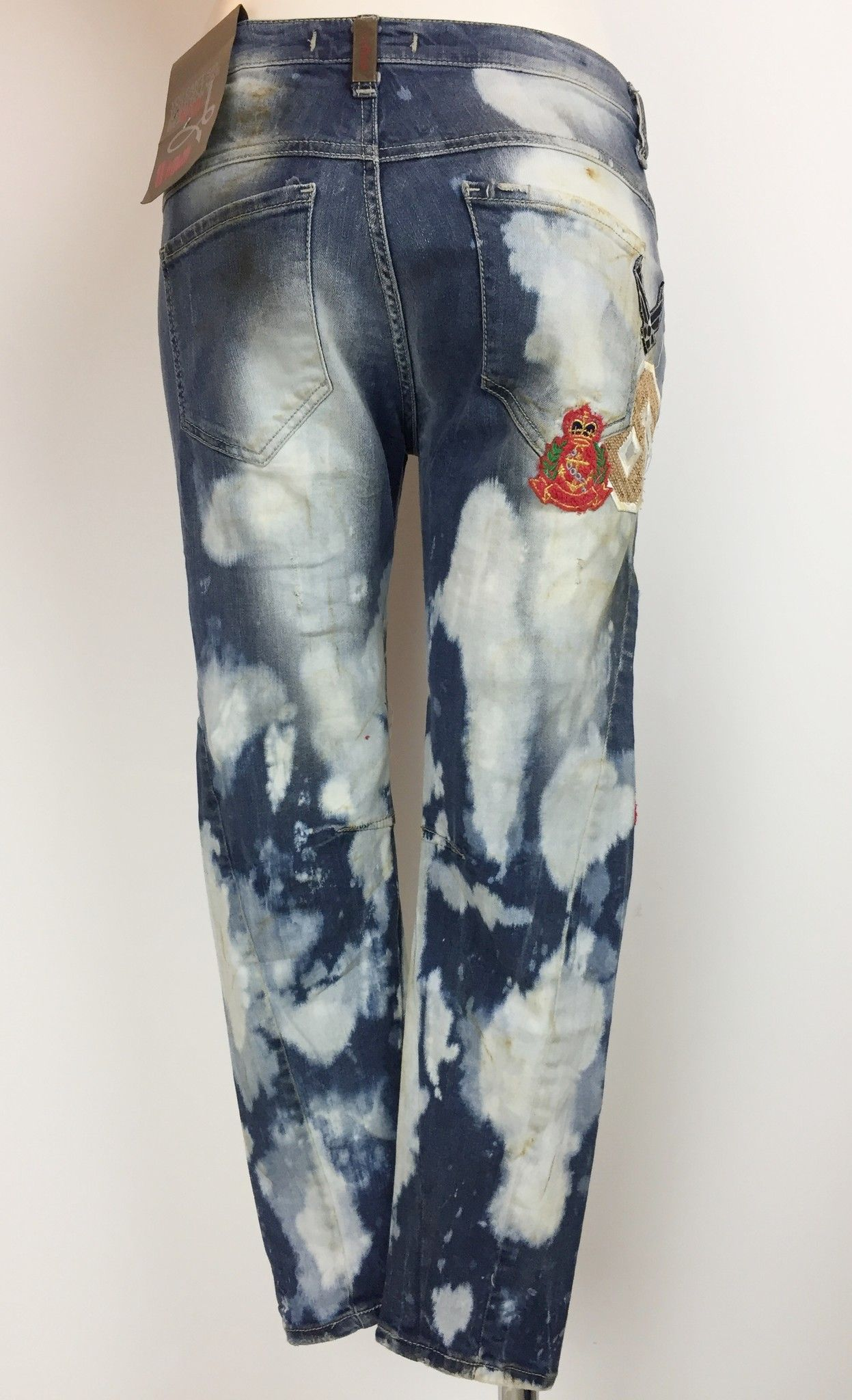 Sexy Woman Boyfriend Model Jeans with Applique Cod.P514619