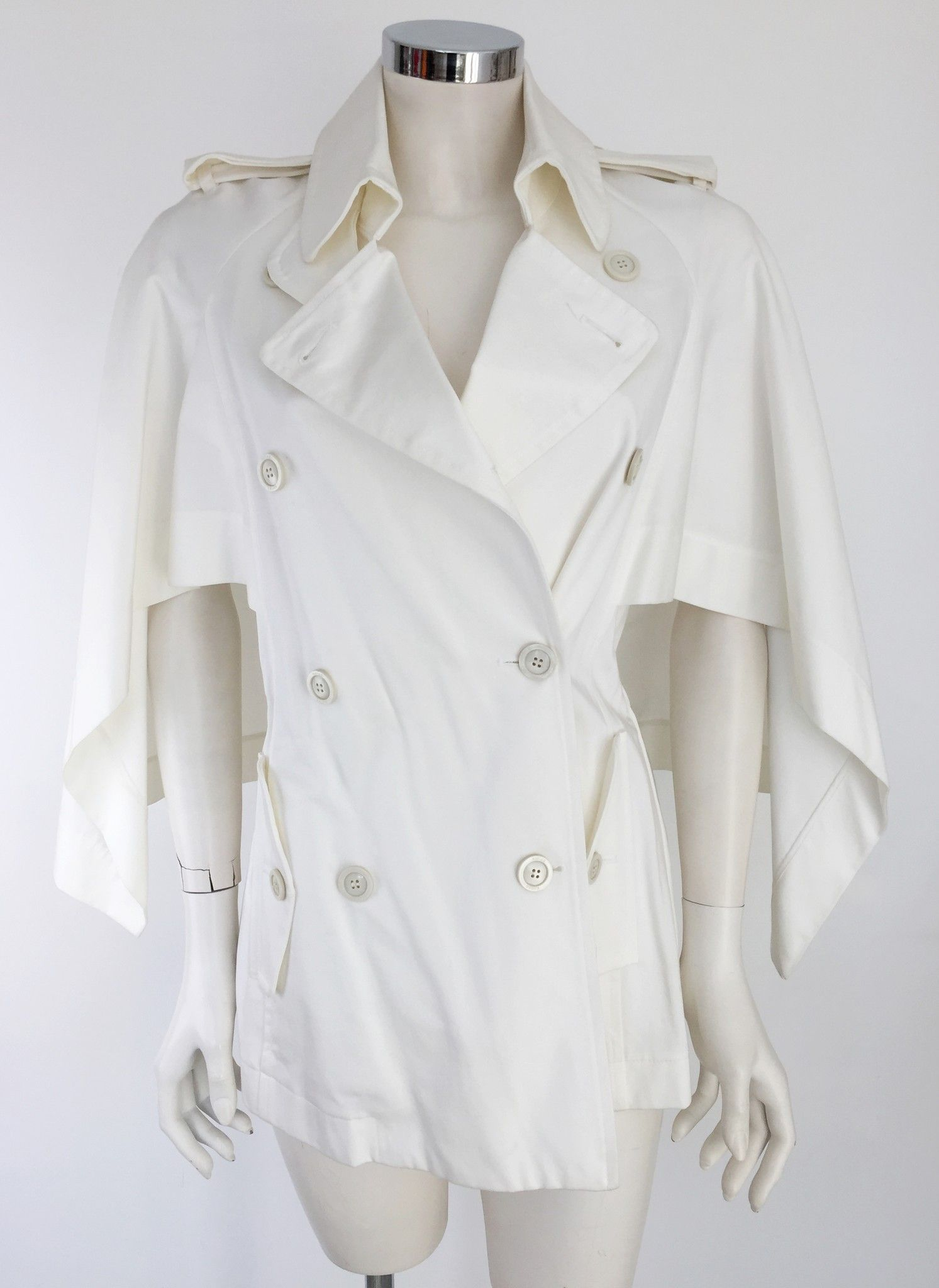 Katia G. Short Double Breasted Belted Coat Cod.K/38303