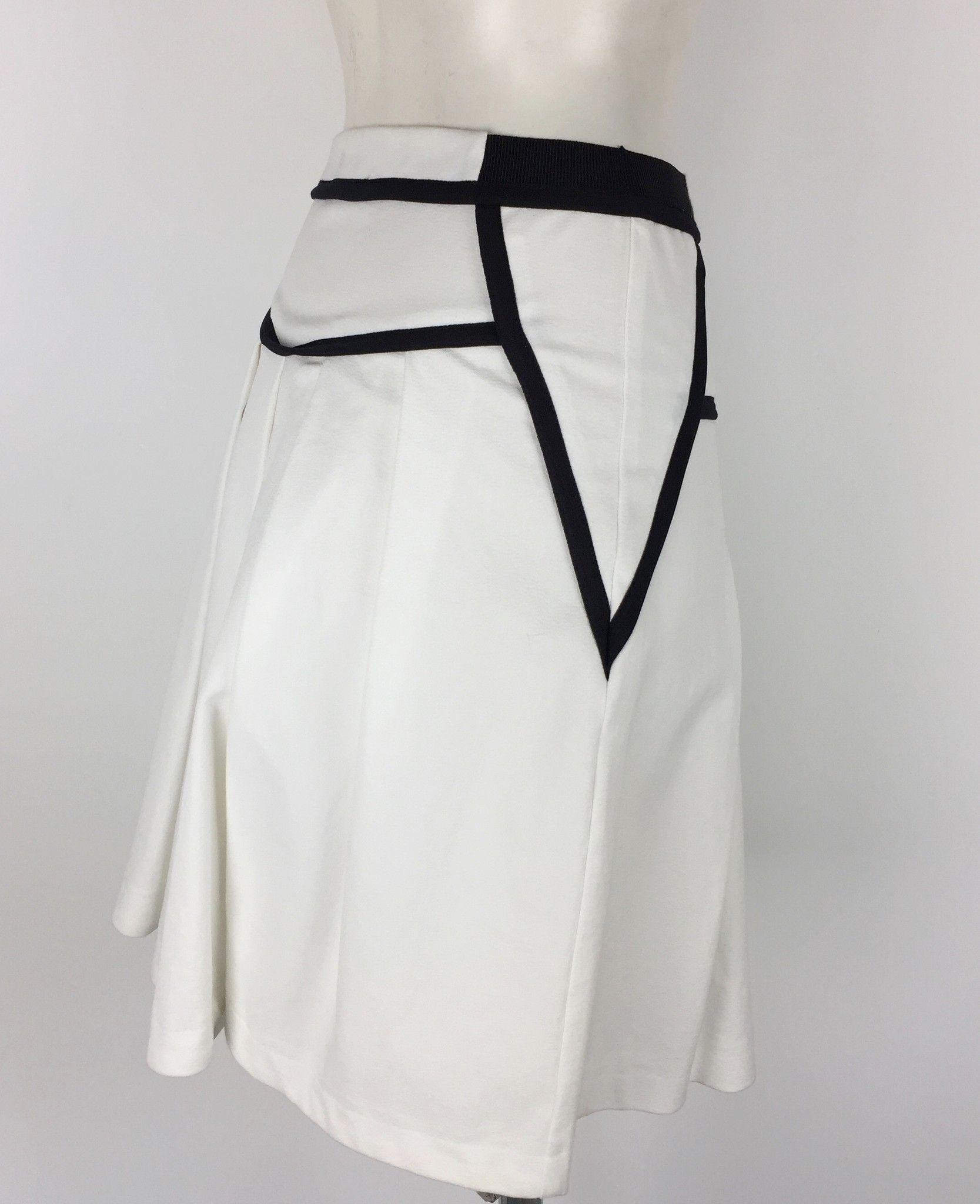 Atos Lombardini Flared Skirt with Black Inserts Cod.TQ1191