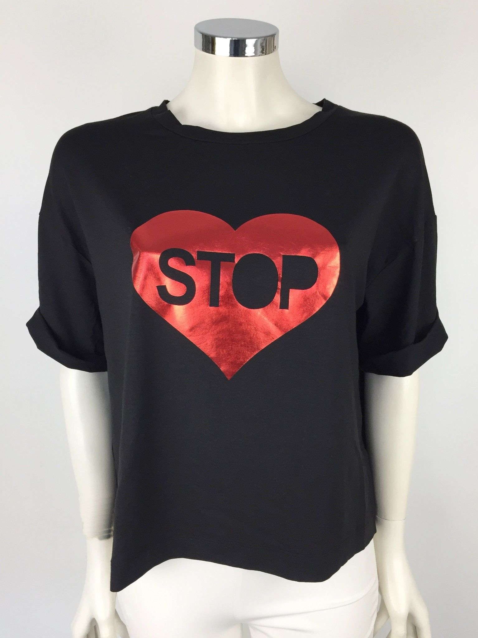 "LadyBug Over T-Shirt ""Stop"" Printed Cod.RT0682"
