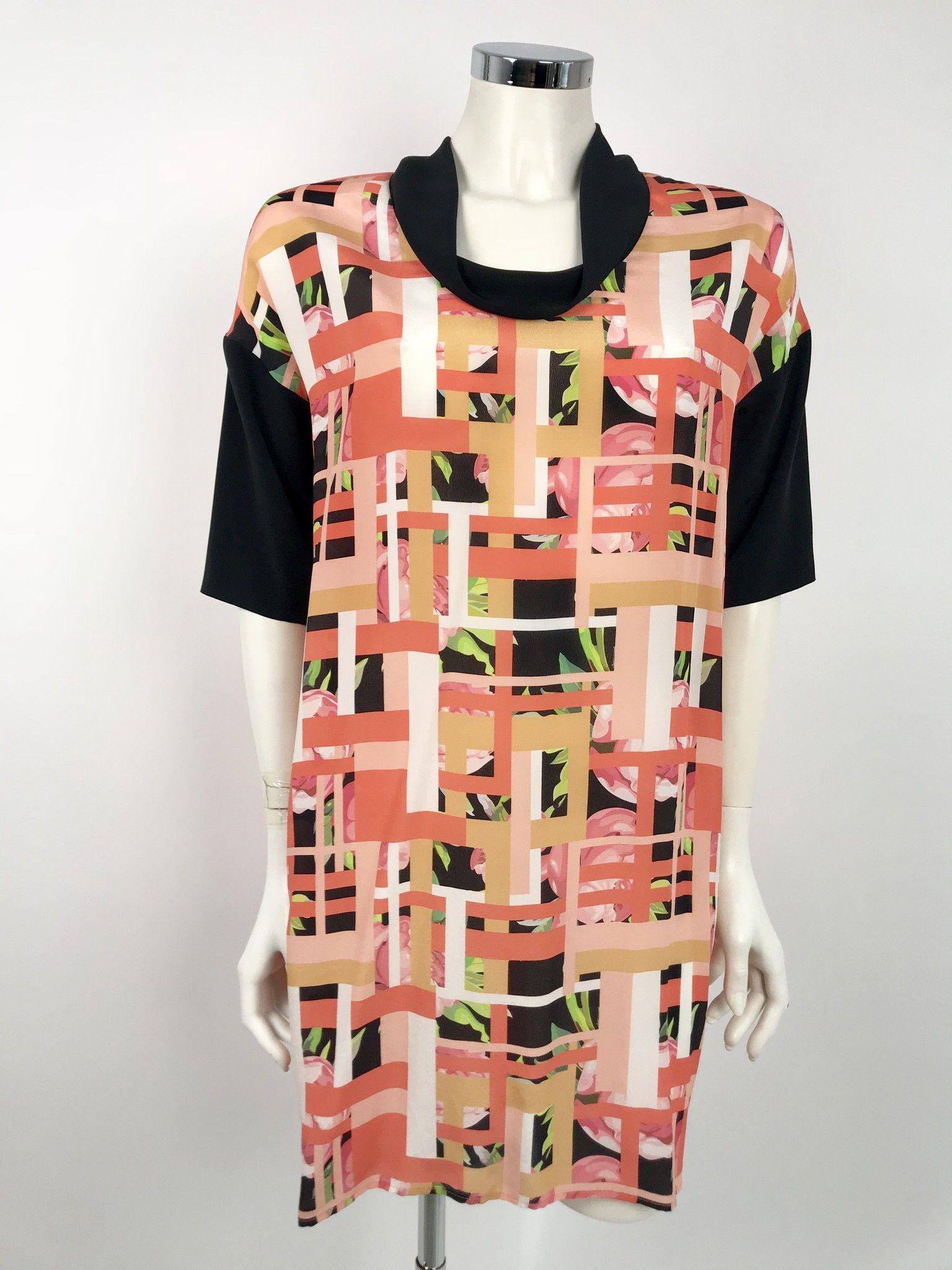 Space Short Sleeve Dress Fancy Cod.142040