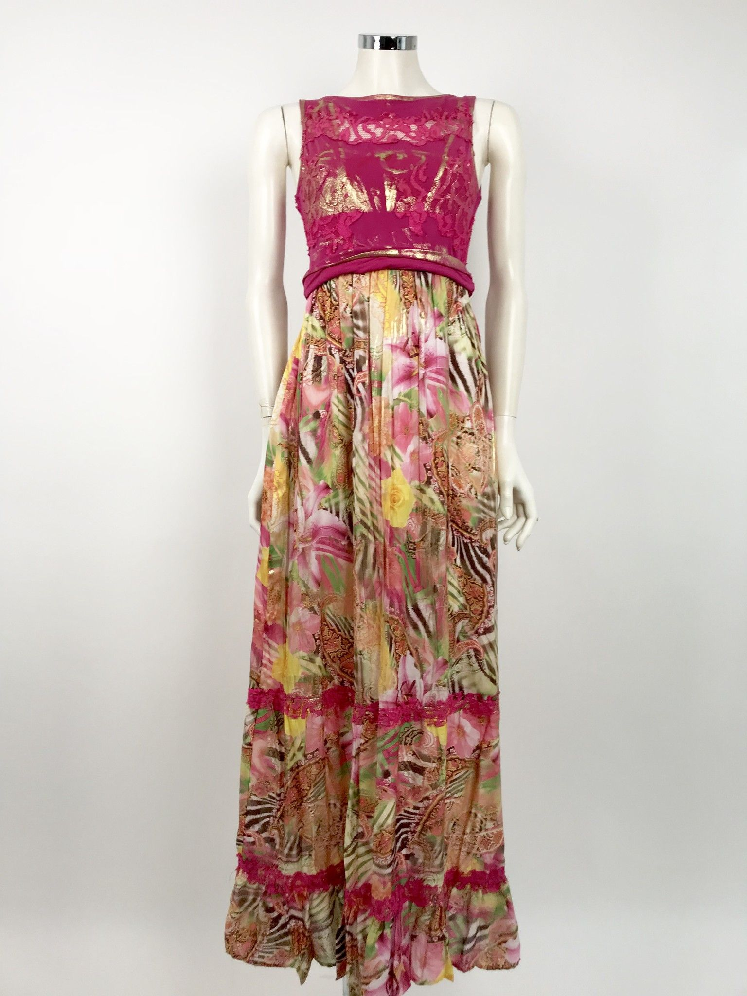 Gil Santucci Floral Long Dress Cod. VAB211