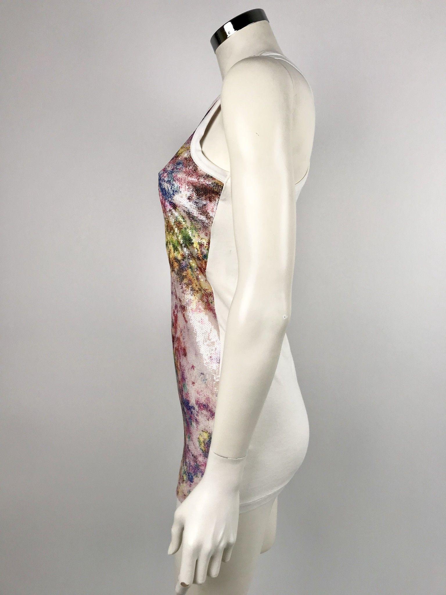 Privè Multicolor Sequined Long Vest Cod.4620