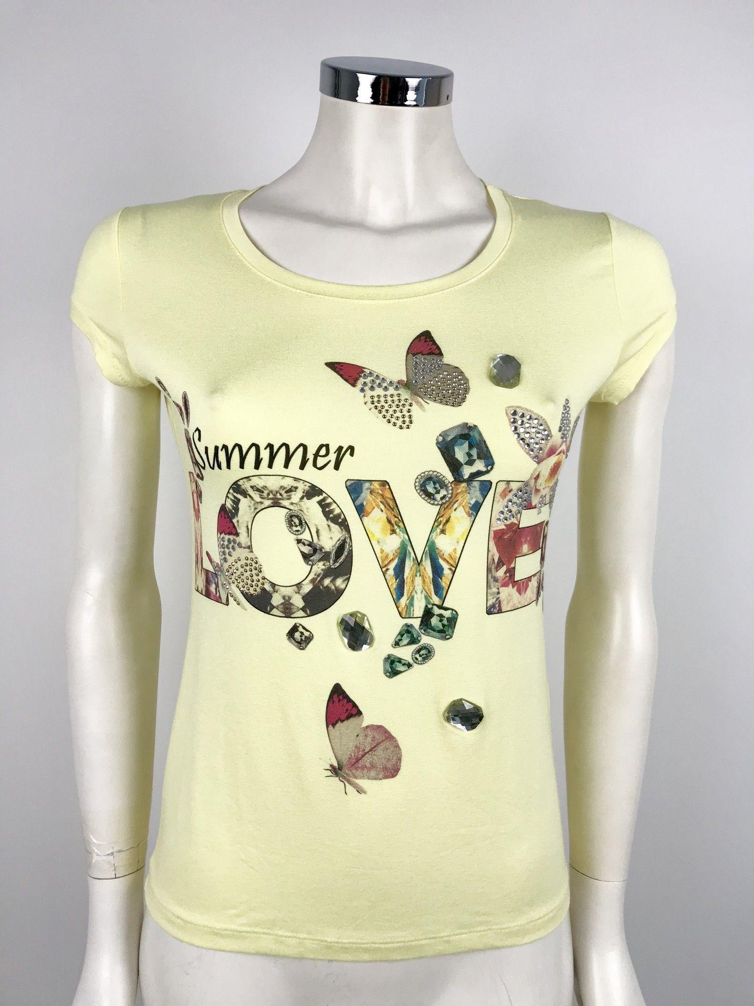 T-Shirt Lady Bug Stampa LOVE Cod.RL0168