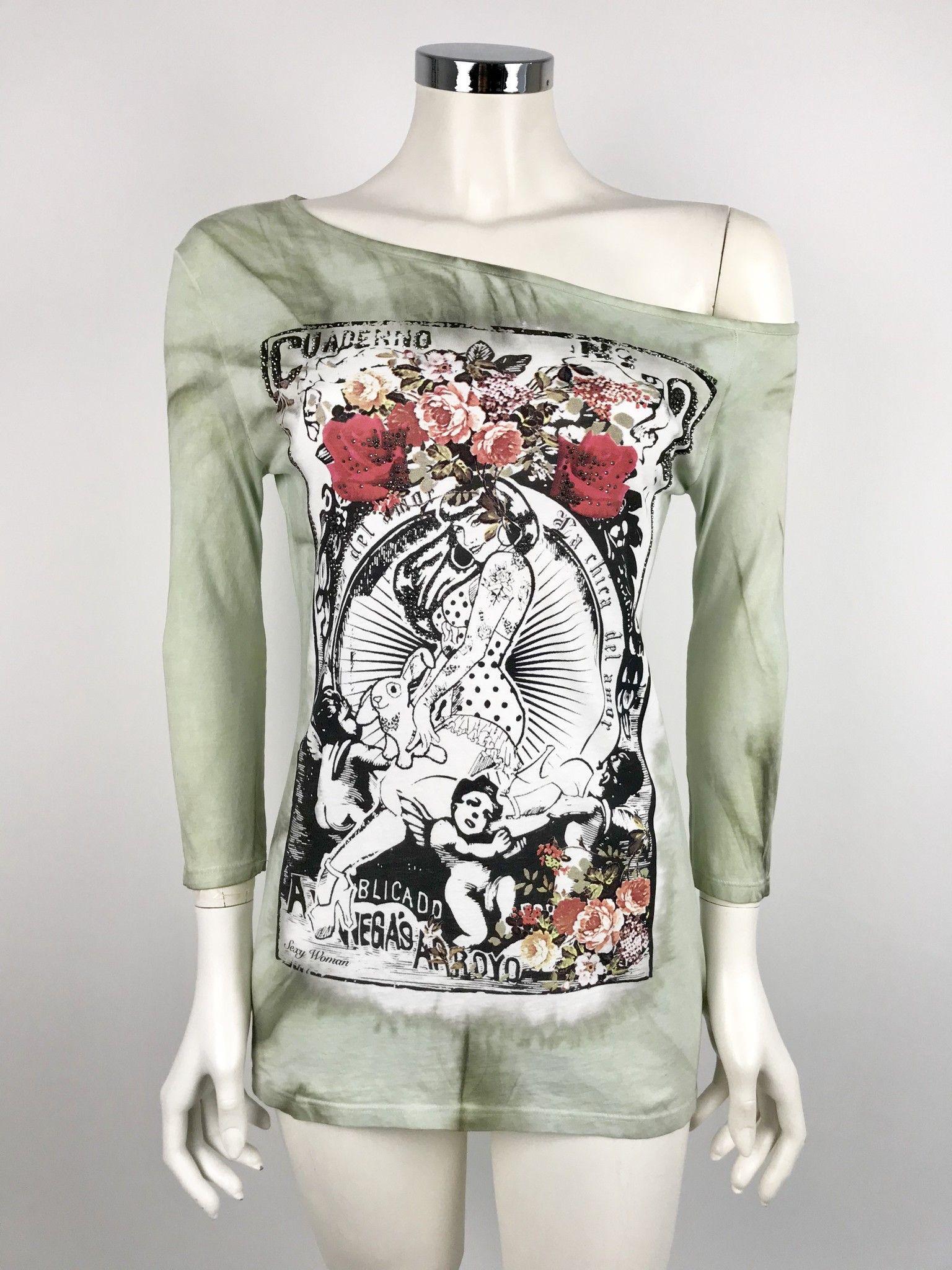 T-Shirt Sexy Woman Stampa Swarovski Cod.6054