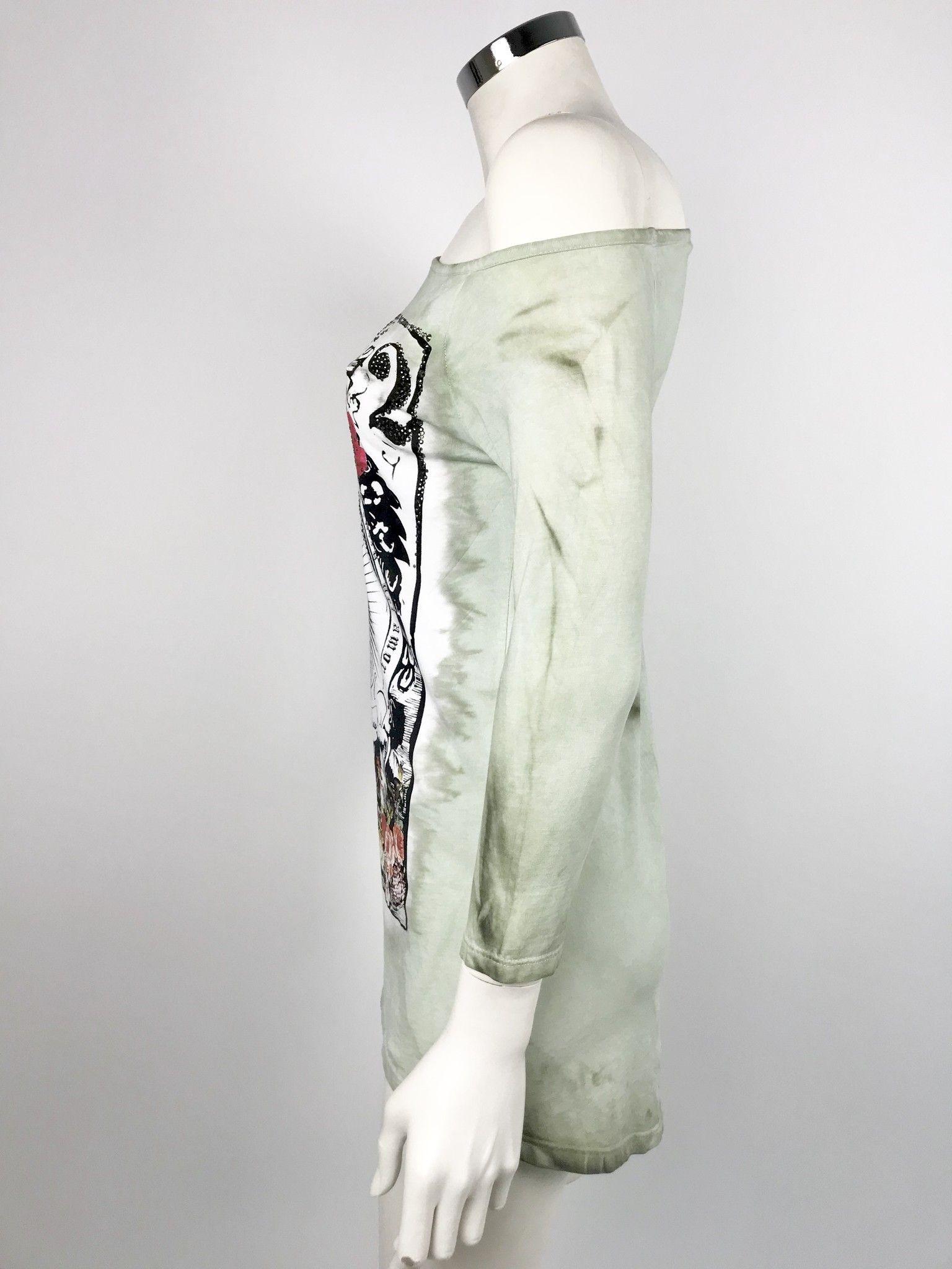 Sexy Woman Printed T-shirt Swarovski Cod.6054