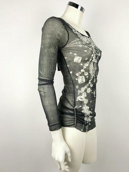 Fehu Print Jersey Long Sleeve Pearl Cod.50210