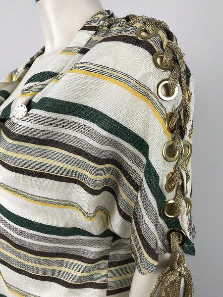 Roberta Biagi Striped Tunic with Round Studs Cod.G1704