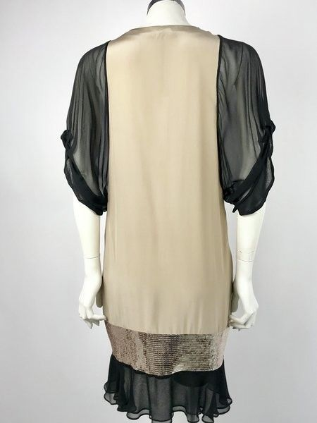 Flavio Castellani Half Sleeve Dress Sequined Inserts Cod.E2CA