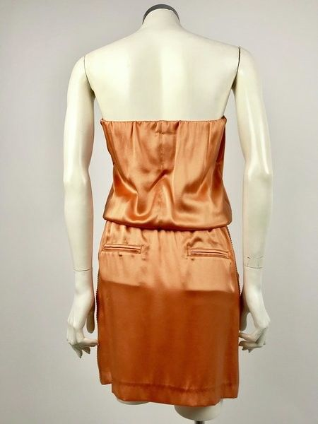 Atos Lombardini Straight Cut Dress with Swarovski Drawstring Cod.3137