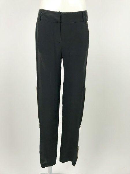 Pantalone Space Bicolore Cerniera Dorata Cod.B116