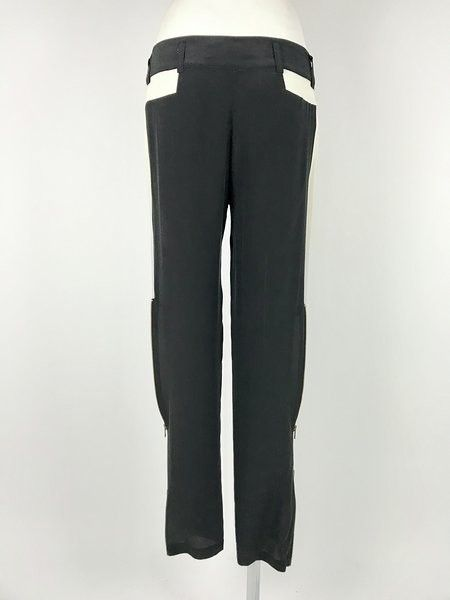 Space Two-colored Trousers Golden Zipper Cod.B116