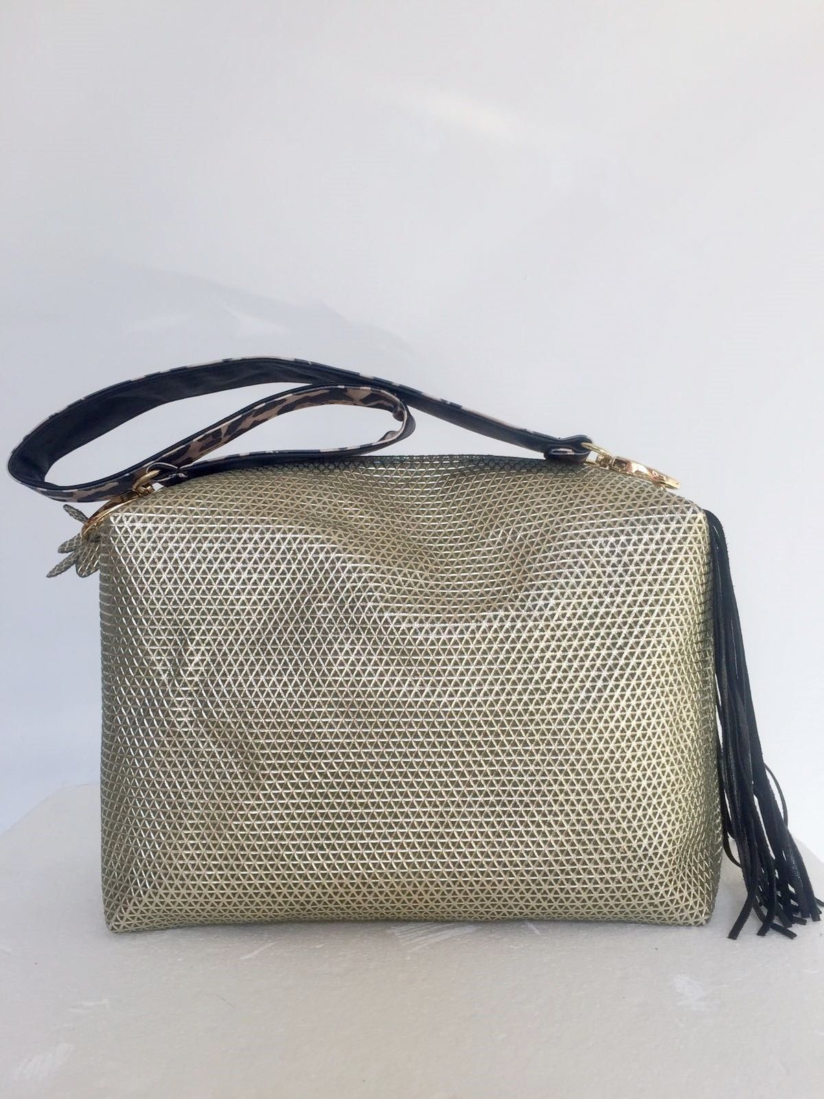 Satchel with fringe and Spotted shoulder bag Cod.1018