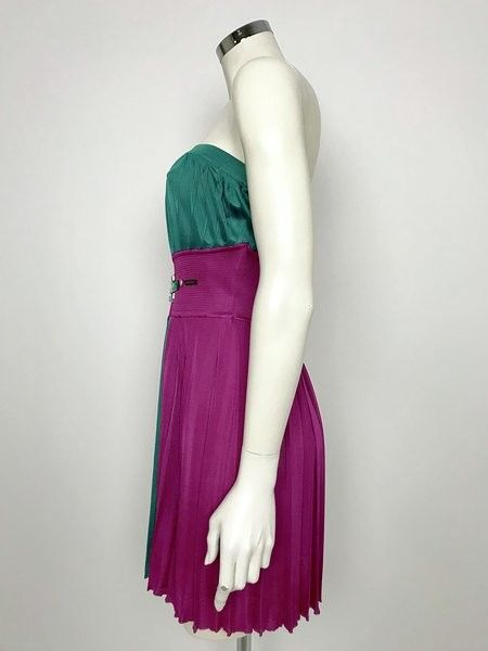 Space Pleated Dress Straight Cut Stones Cod.3C40