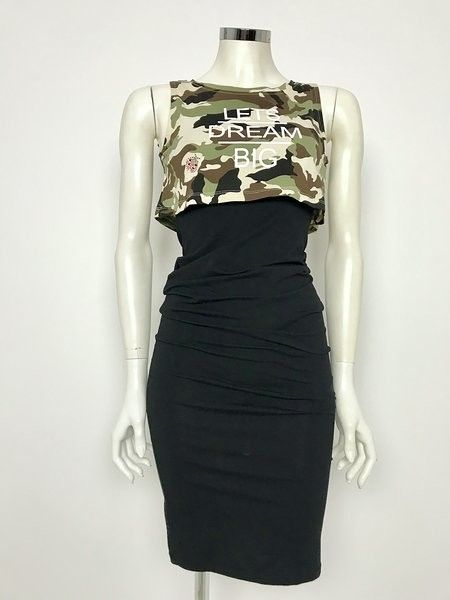 Privè Camouflage Two-Tone Dress Cod.6806