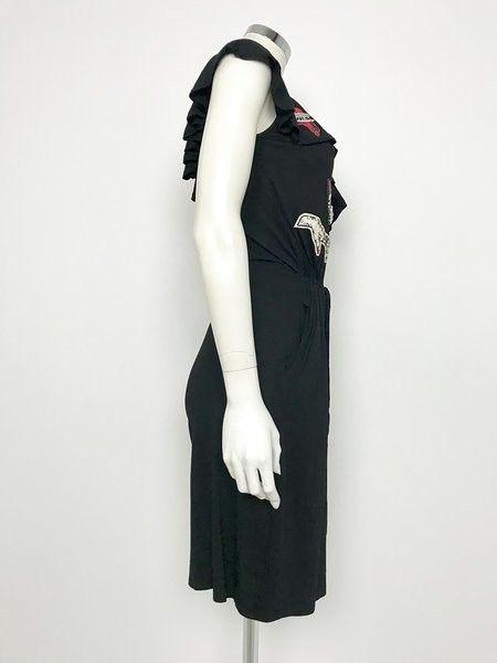 Gil Santucci Jumpsuit Two-Tone Camouflage Monospalle Applications Sequins Cod.A8215