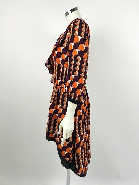 Roberta Biagi Roughes Geometric Pattern Dress Cod.L1611