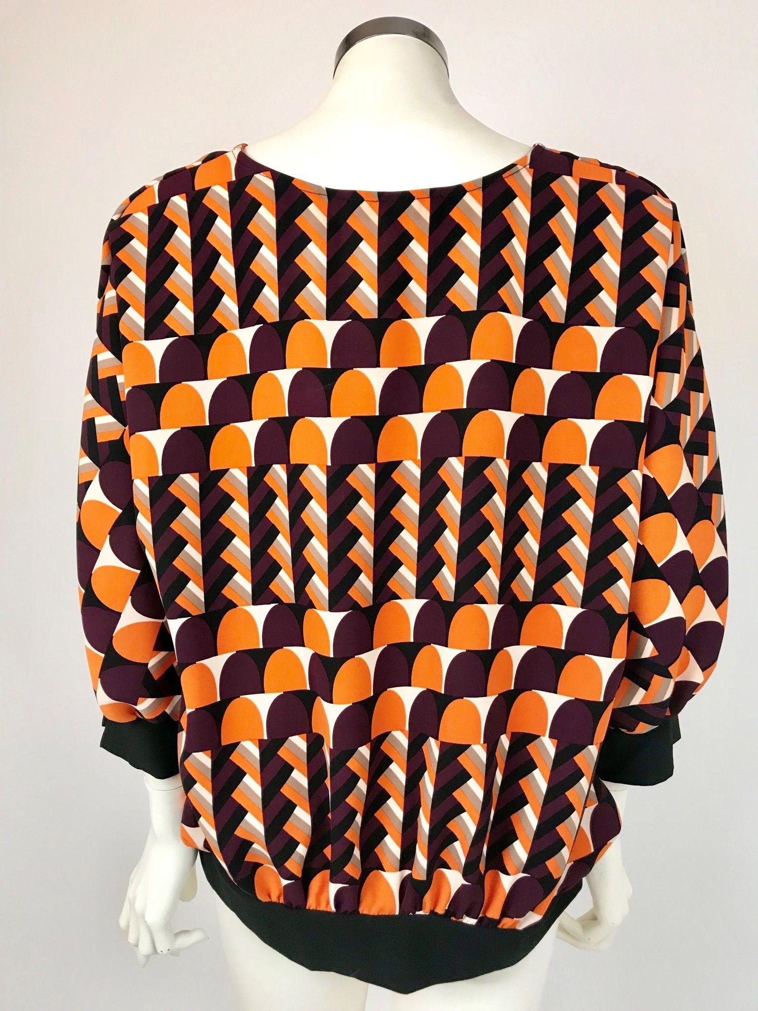 Camicia Roberta Biagi Over Fantasia Geometrica Cod.MAG2204