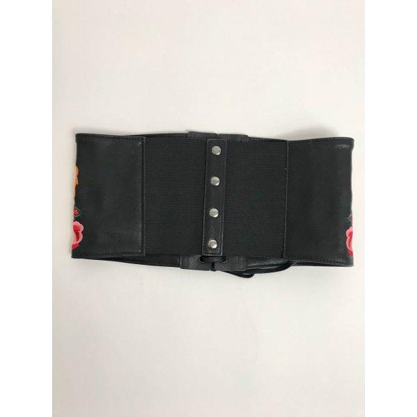 Cintura Elasticizzata Ecopelle Stampa Fiori Intrecci Cod 7160