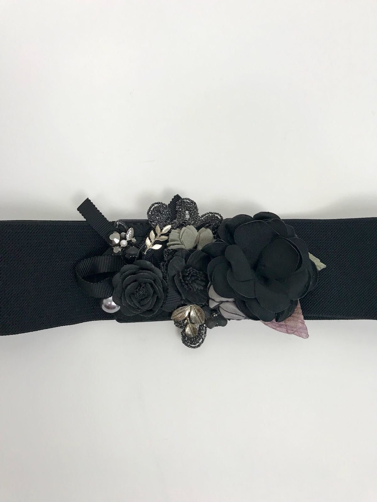 Applied Flowers Stretch Belt Cod.7161