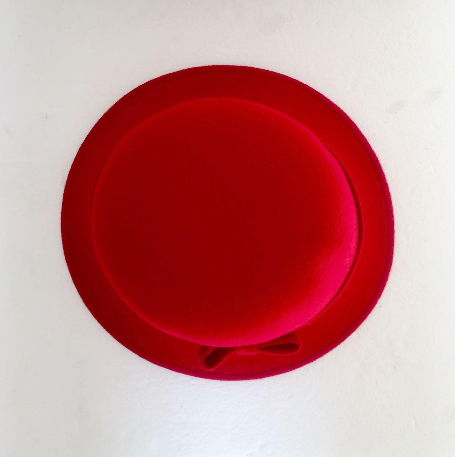 Cappello LadyBug in Lana Cotta Tondo con Fiocco cod.1021