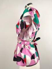 Vicolo Tunic Sleeves Puff Geometric Pattern Cod.TC1312