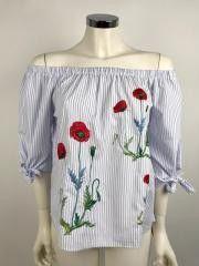 Ladybug Shirt Stripes and Flowers Cod.EE37