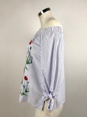 Camicia Ladybug Righe e Fiori Cod.EE37