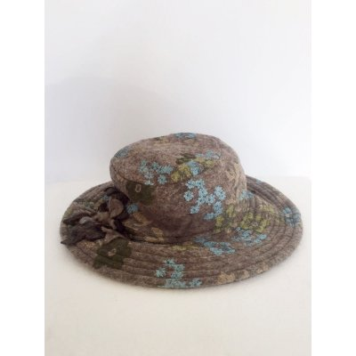 Cappello Tondo in Lana Cotta Fant.Fiori Cod.1023