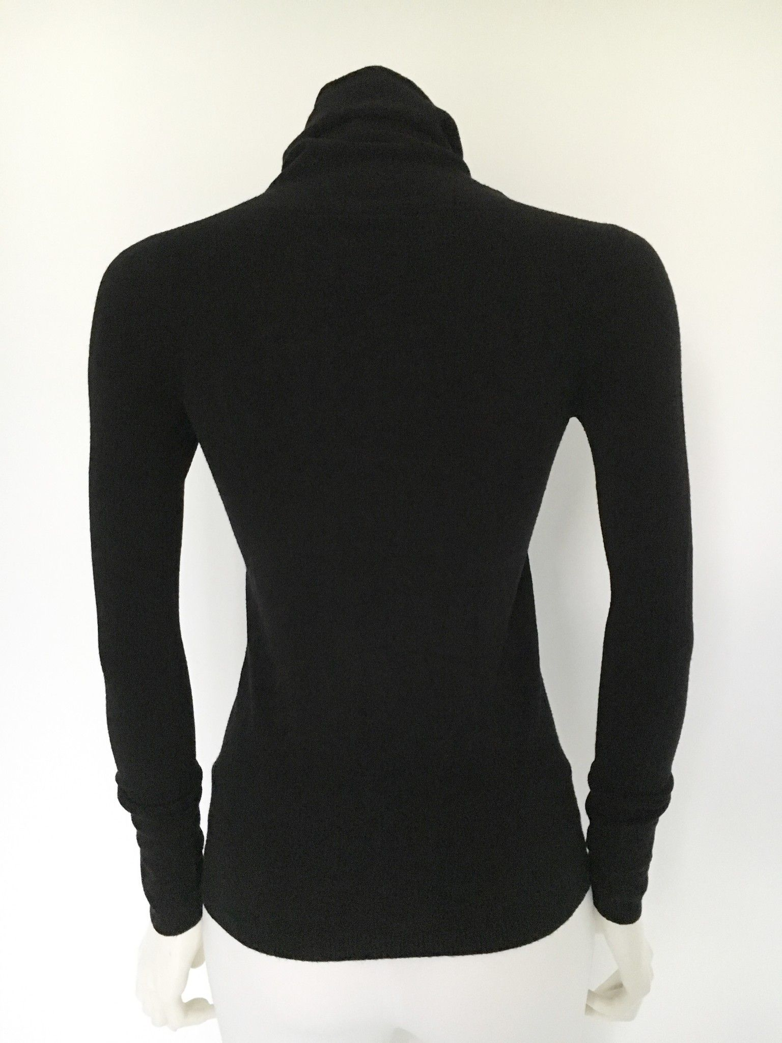Long Sleeve Polo Neck Sweater With Swarovski Slim Fit Cod.7924