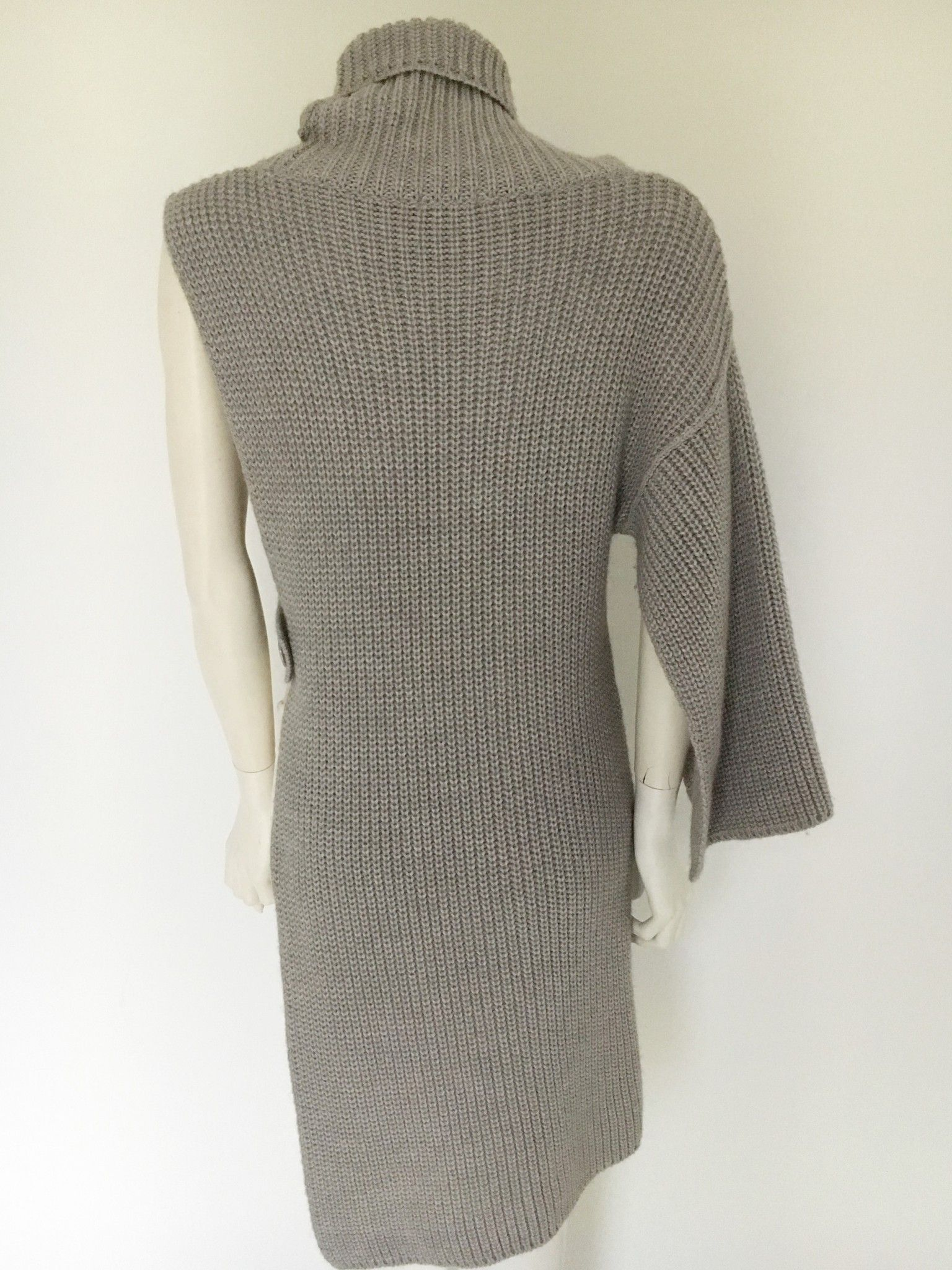 Eclipse Ribbed Polo Neck Sweater open Long Side Cod.4965
